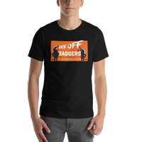 Back Off Badgers | Black and White Colors Unisex T-Shirt - Loosetooth.com