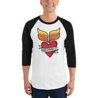 Grinnell Tattoo | Unisex Raglan Shirt - Loosetooth.com