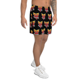 Grinnell Tattoo Print | Men's Athletic Long Shorts - Loosetooth.com