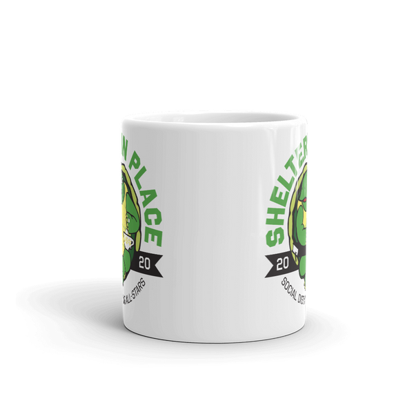 Shelter in Place Turtle 11 oz Mug - Loosetooth.com