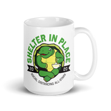 Shelter in Place Turtle 15 oz. Mug - Loosetooth.com
