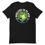 Shelter In Place Turtle | Dark Colors Unisex T-Shirt - Loosetooth.com
