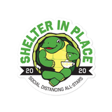 Shelter In Place Turtle Sticker - Loosetooth.com