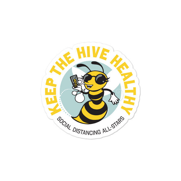 Keep the Hive Healthy Bee Stickers - Loosetooth.com