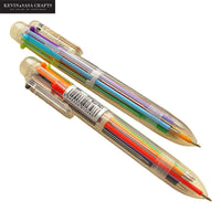 6Colors Ballpoint Pen Office And School Pens For Student And Stationery Office Supplies Presented By Kevin&sasa Crafts - Loosetooth.com