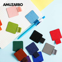 Self-adhesive Leather Pen Clip Pencil Elastic Loop for Notebooks Journals Clipboards Pen Holder - Loosetooth.com