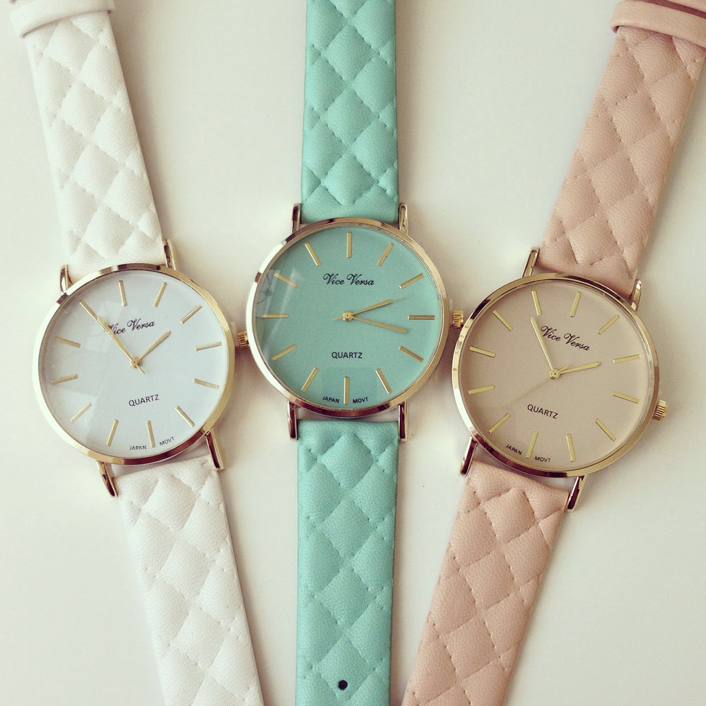 Quilted watch
