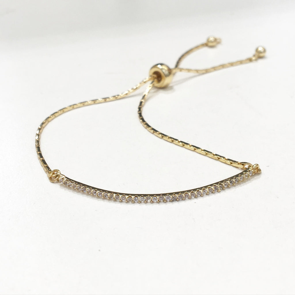 Thin Bar Rhinestone Bracelet