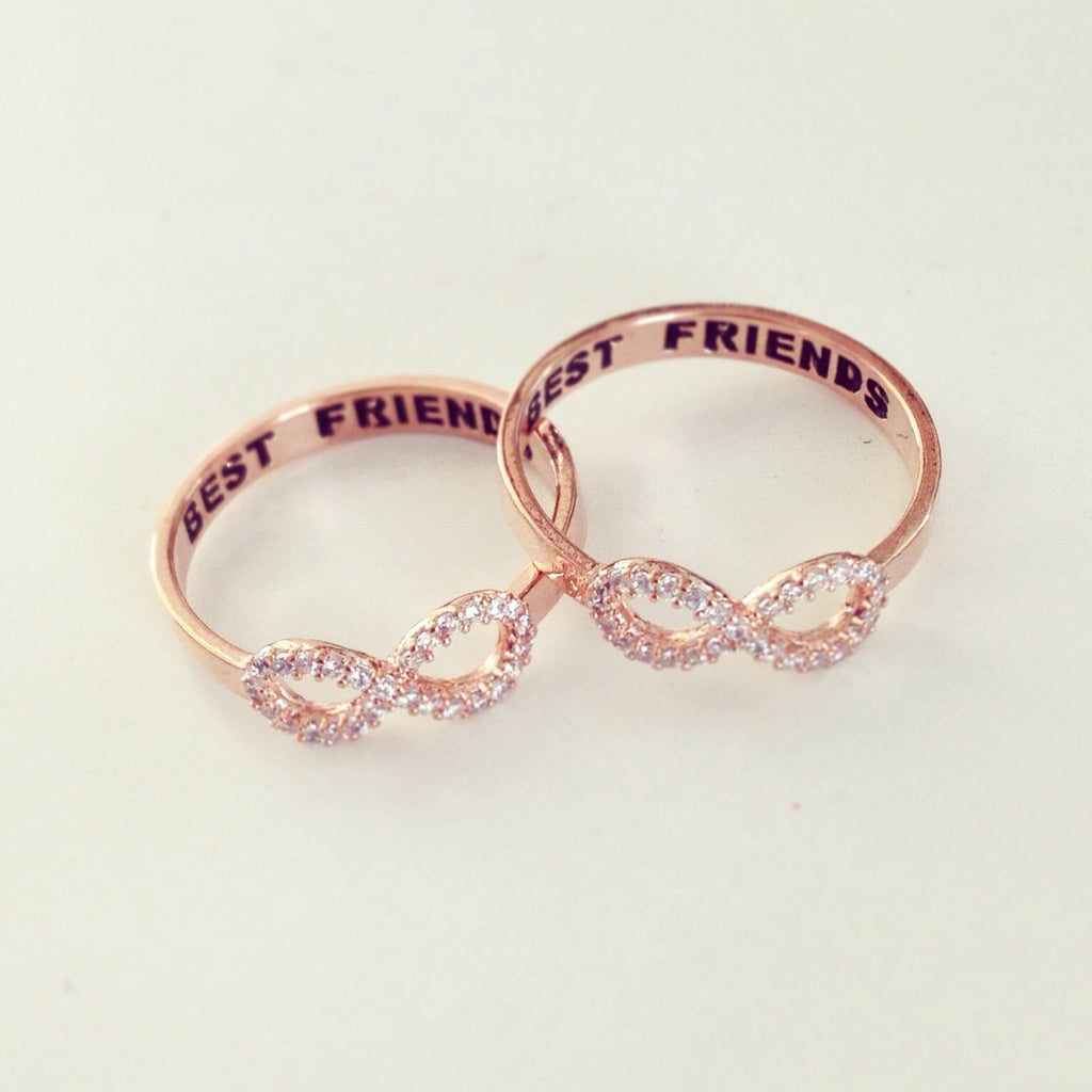 Best Friends Rhinestone Ring