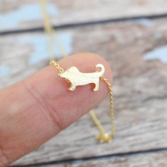 Tiny Puppy Necklace