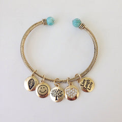 Live Love Laugh Charm Bangle