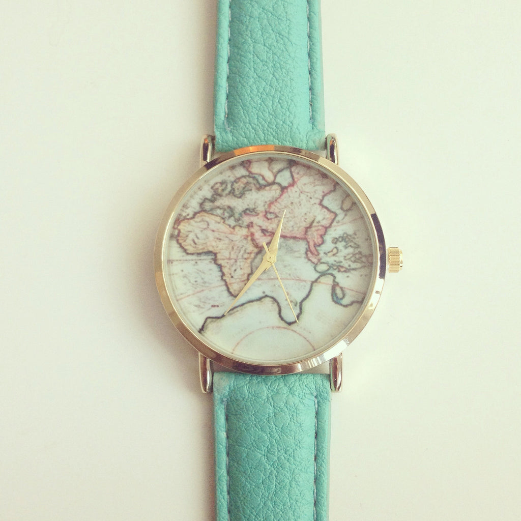 Adorable world map watch shopebbo adorable world map watch gumiabroncs Gallery