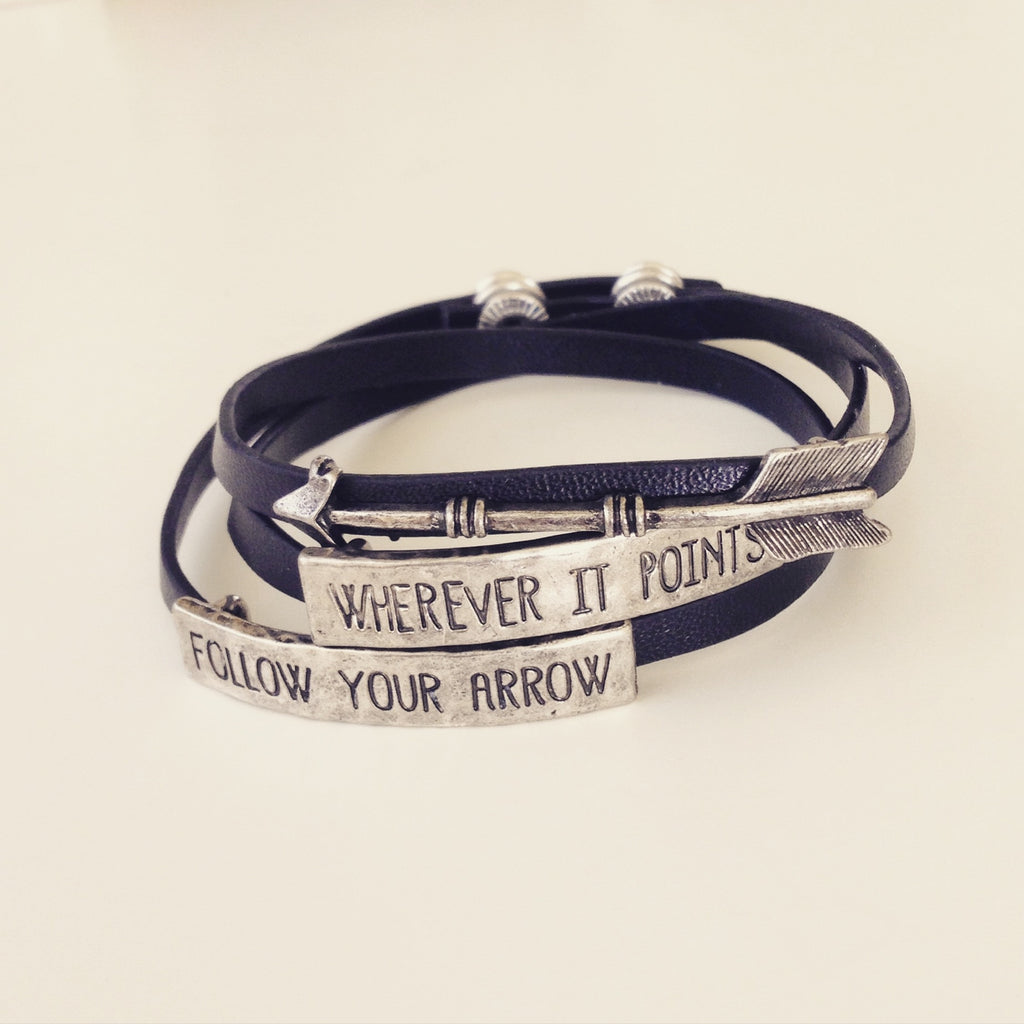 Follow Your Arrow Leather Bracelet
