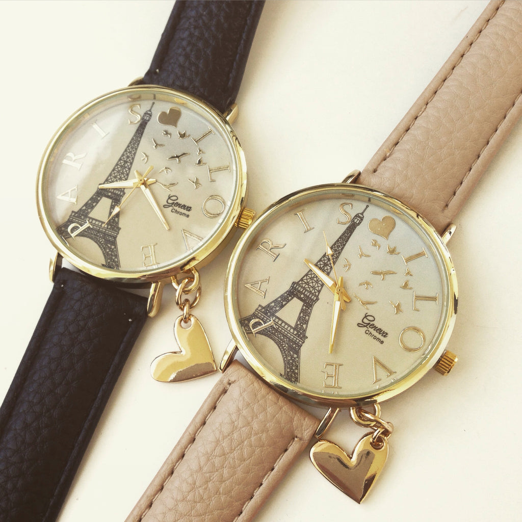 Paris Love Oversized Dial Watch