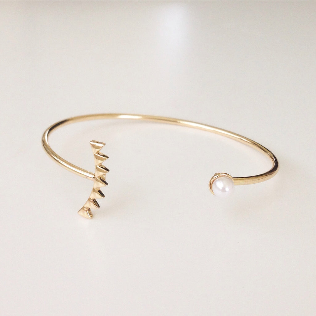 Triangle and Pearl Bangle