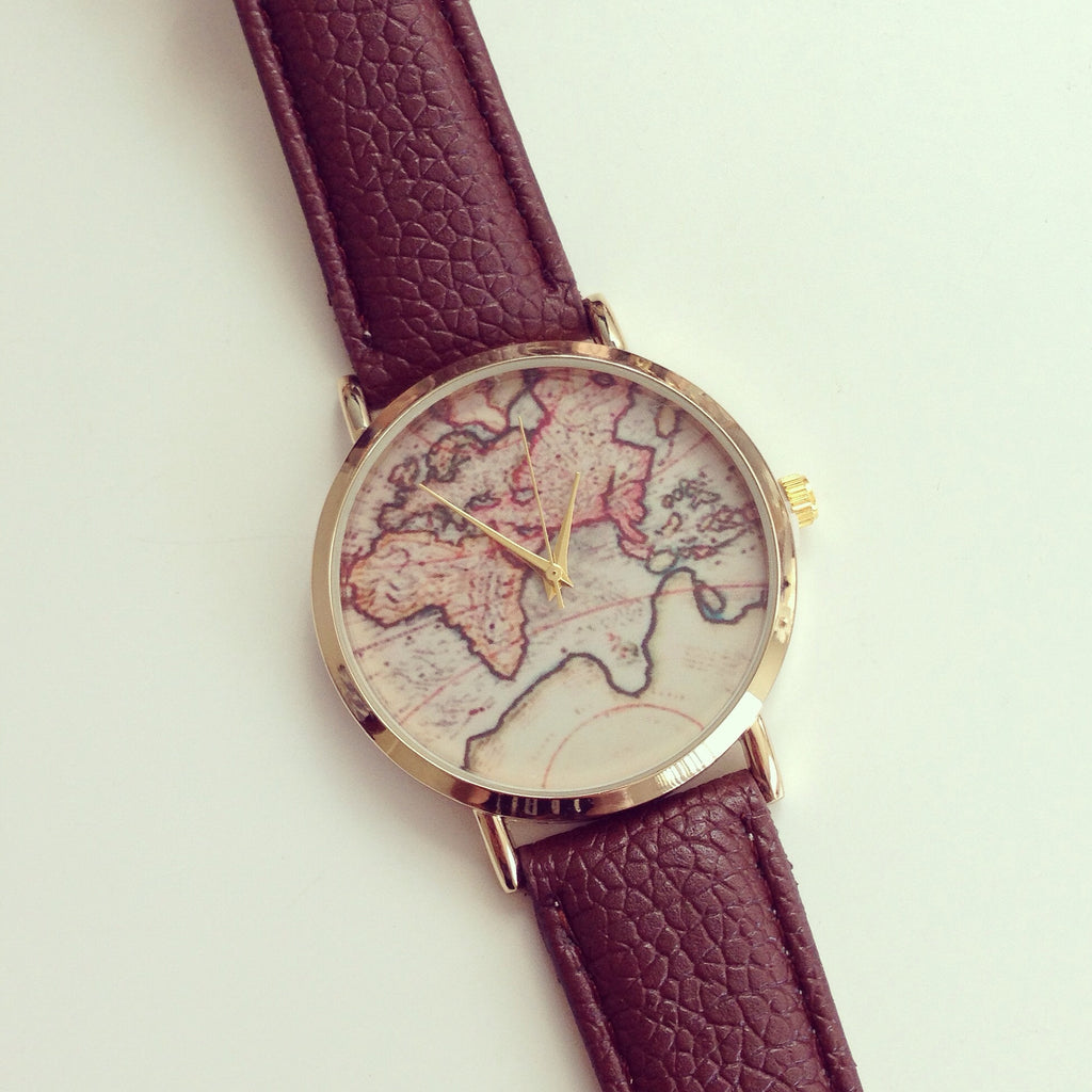 Adorable world map watch shopebbo adorable world map watch gumiabroncs Choice Image