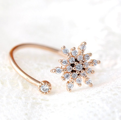 Snowflake Adjustable Ring