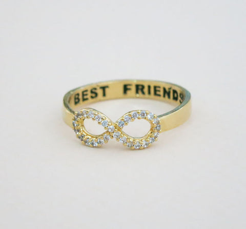 Best Friends Rhinestone Gold Ring