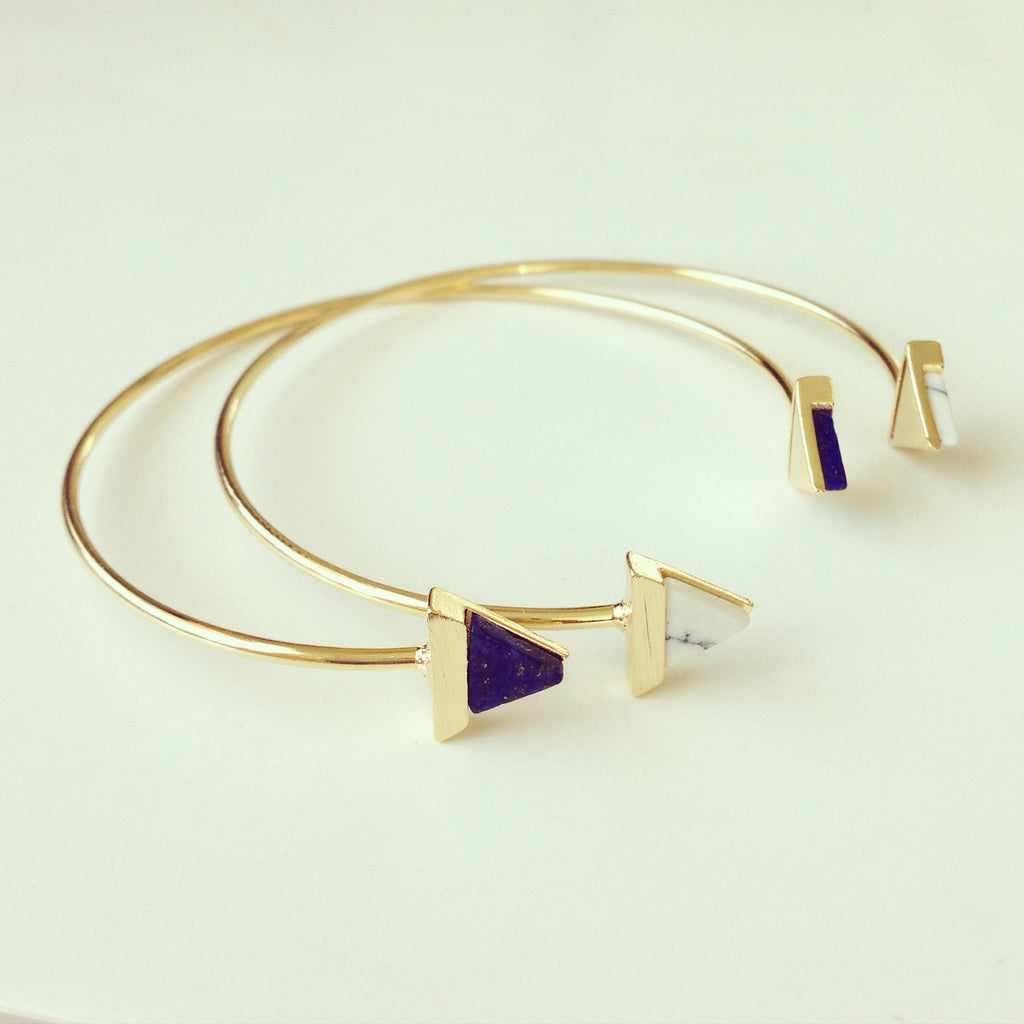 Triangle Stone Bangle