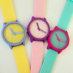 Two Color Rubber Band Watch