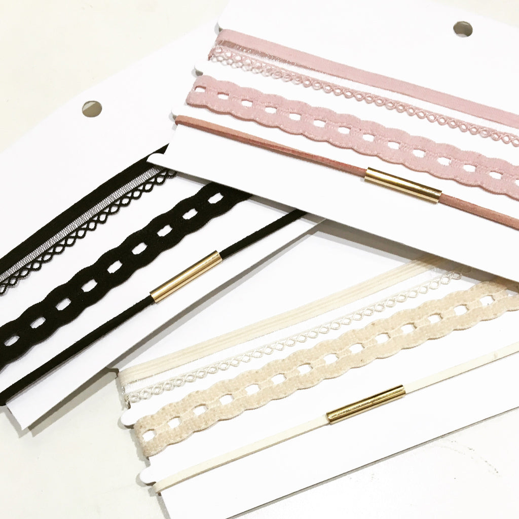 Stretchable Simple Choker Pack