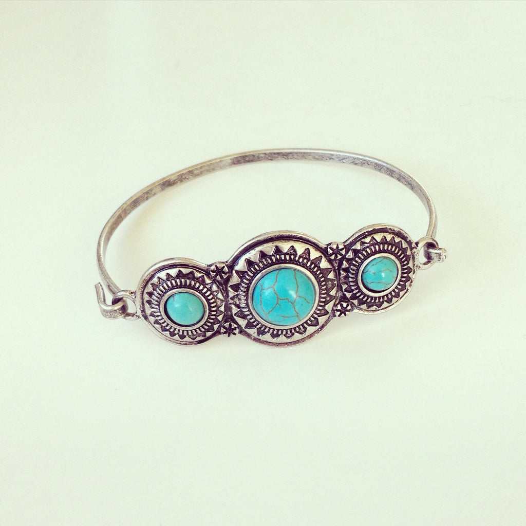 Triple Turquoise Bangle