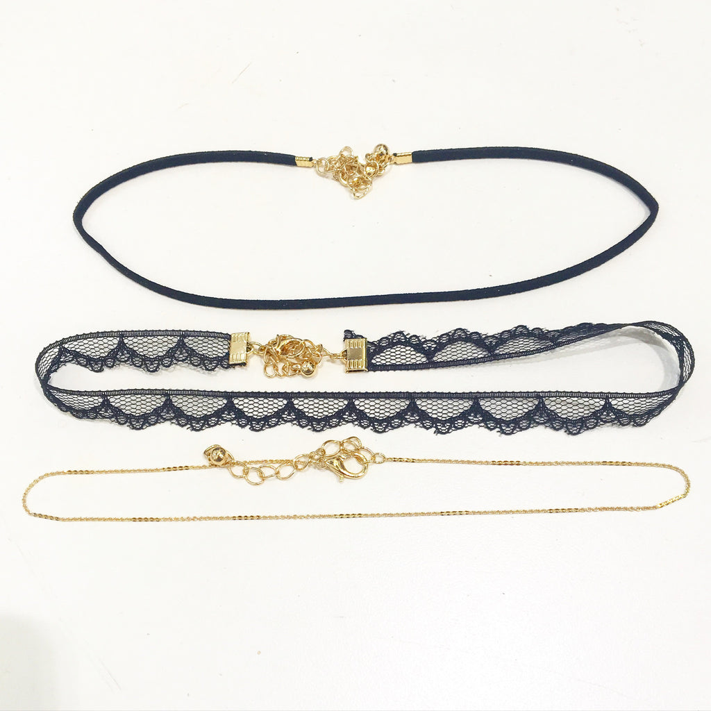 Dainty Necklace Choker Pack