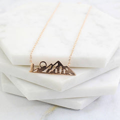Dainty Mountain Necklace