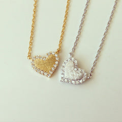 Heart Rhiestone Necklace