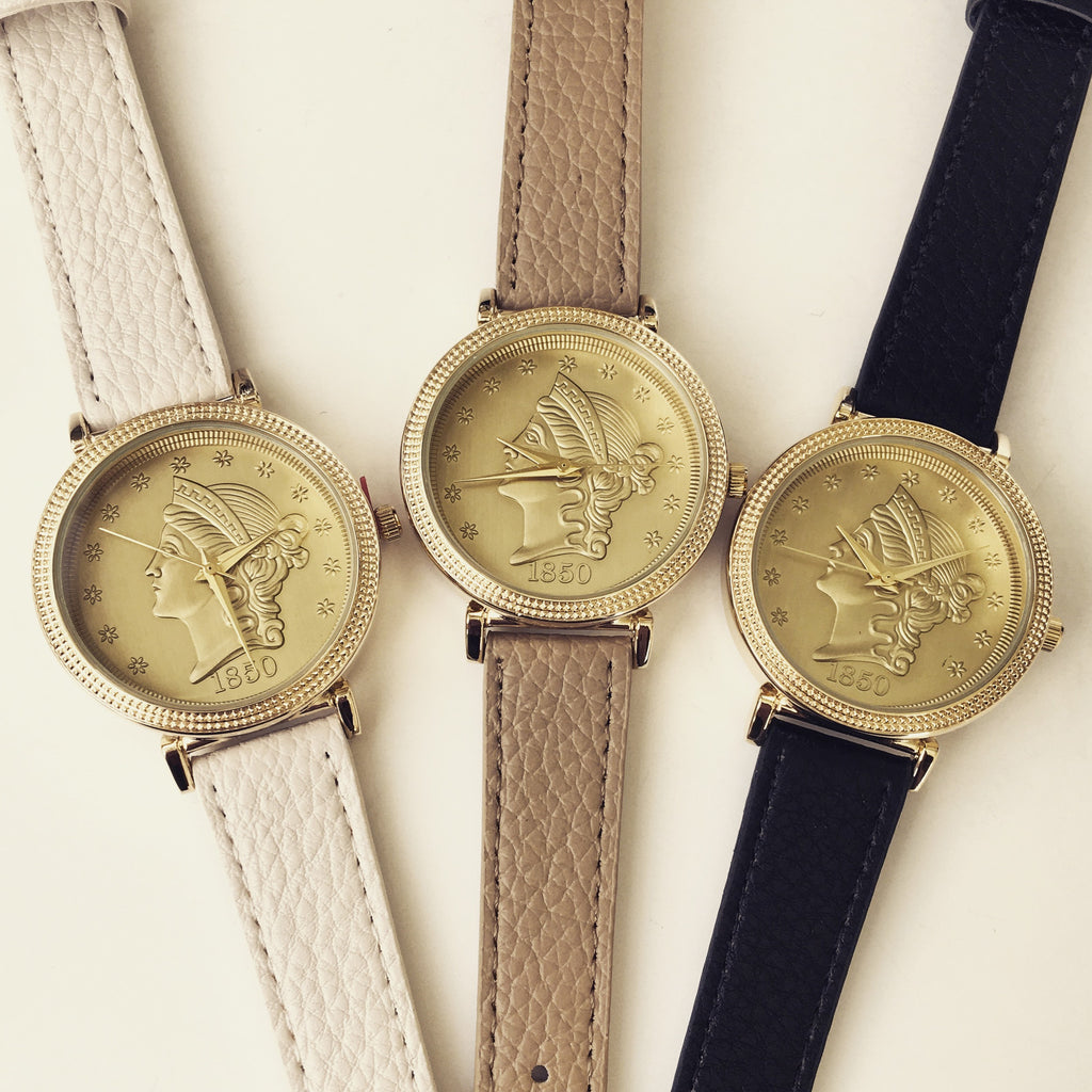 Liberty Coin Dial Watch