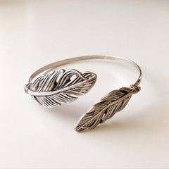Double Feather Antique Bangle