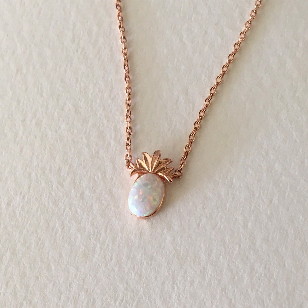 Tiny Pineapple Opal Necklace