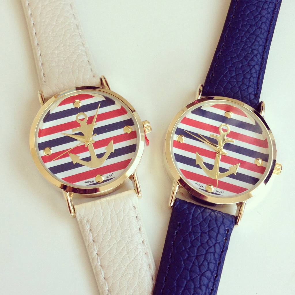Anchor Stripe Watch
