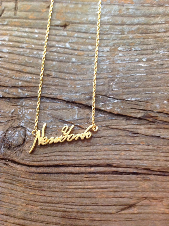 New York Letter Necklace