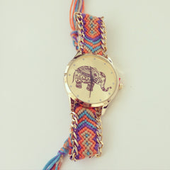 Elephant Dial Thread Watch - G