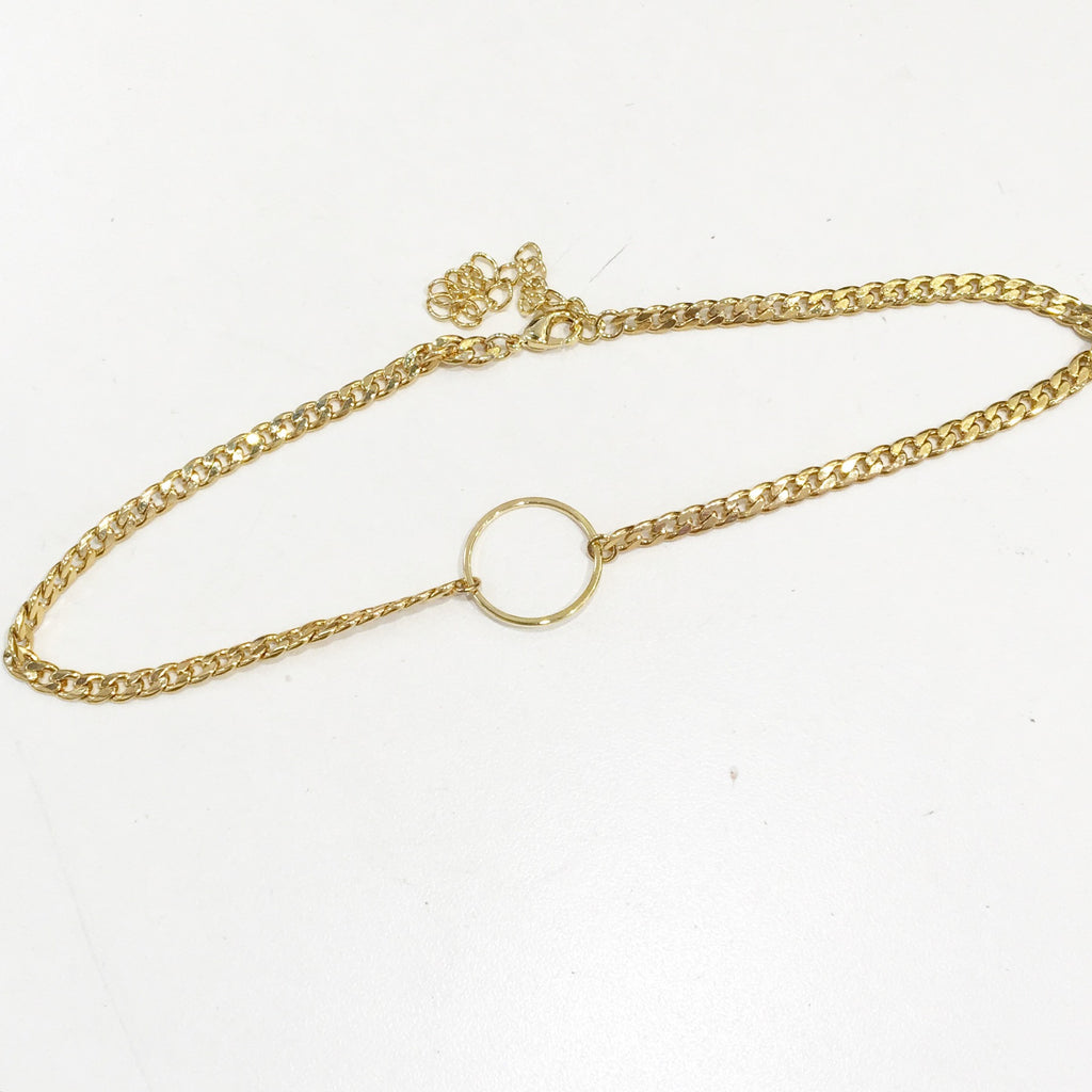 Glam O Ring Chain Choker