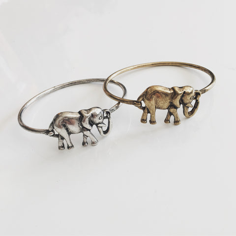 Antique Elephant Bold Bangle