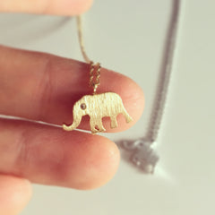 Elephant Beautiful Eyes Necklace
