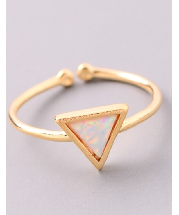 Triangle Opal Stone Ring