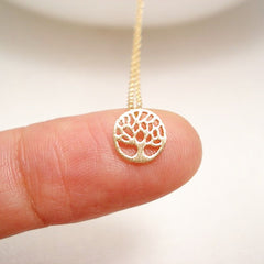 Dainty Tree Coin Necklace
