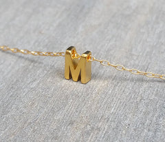 Adorable Simple Initial Necklace