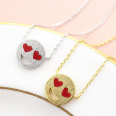 Emoji Heart Eyes Necklace
