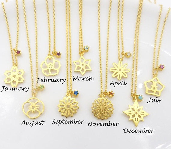 Birthstone Gold Necklace