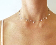 Dainty Diamond Choker Necklace