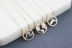 Adorable World Map Necklace