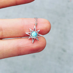 Star with Opal Stone Necklace