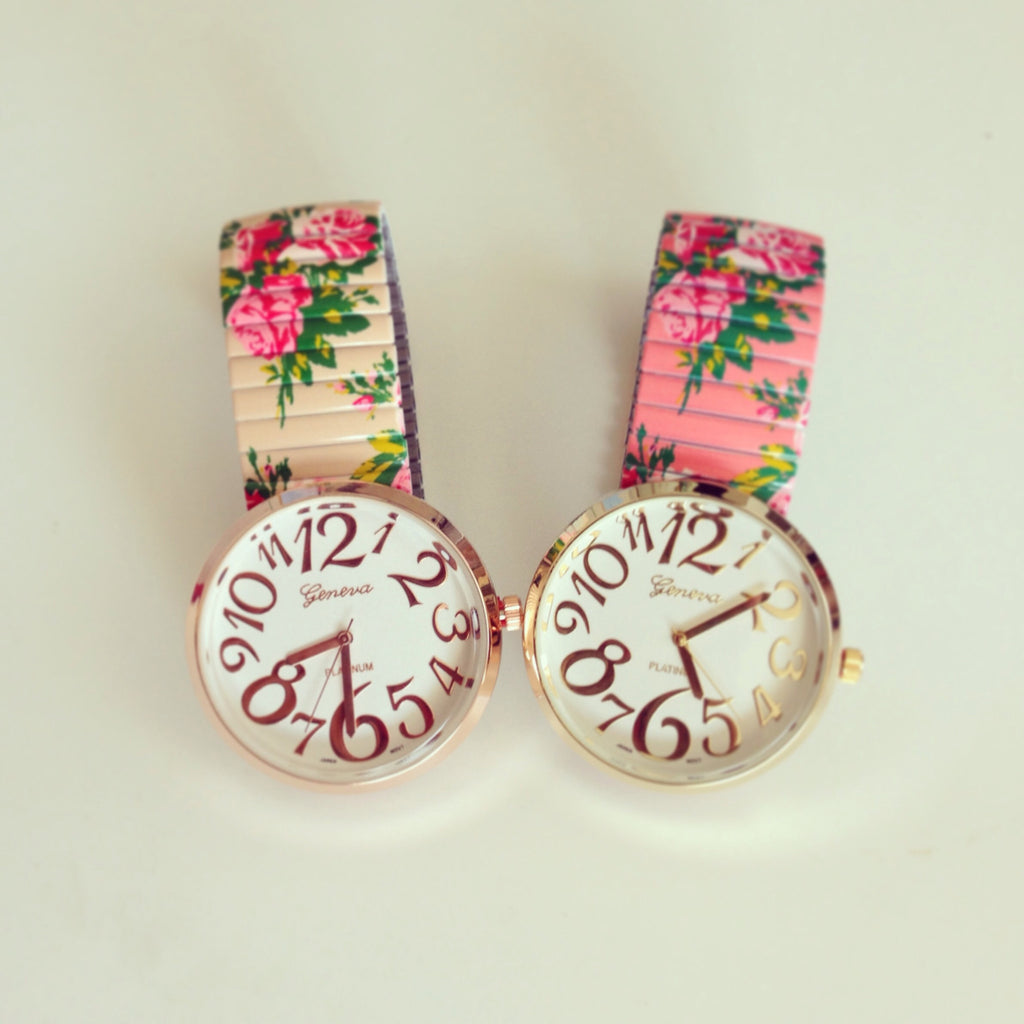 Lovely Floral Stretchable Watch b