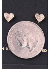 Lovely Heart Stud Earrings