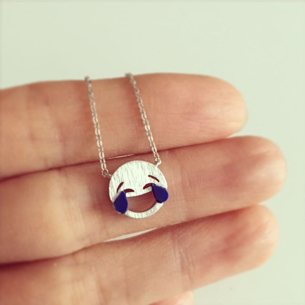 Emoji Laughing Face Necklace