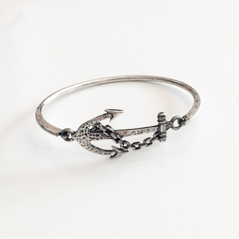 Antique Anchor Bangle